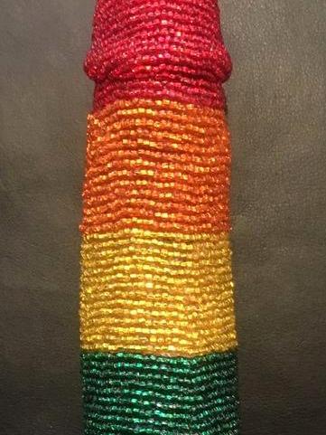 Rainbow Beaded Phallus