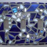 Blue Mosaic Light Switch Cover - Sold