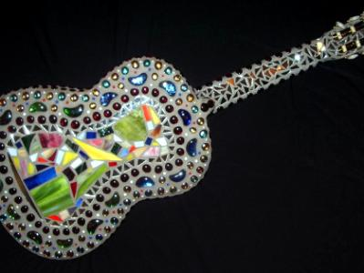 Mosaic Guitar Back