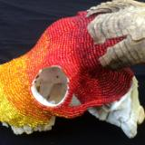 Beaded Goat Skull Left