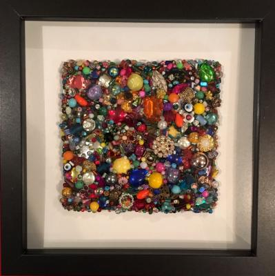 Untitled Beaded Square III