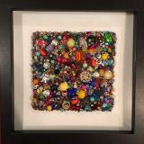Untitled Beaded Square III - Framed