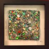 Green Square II - Framed