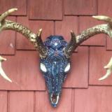 AB Beaded Deer Skull