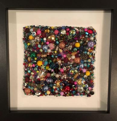 Untitled Beaded Square II - Framed