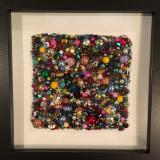 Untitled Beaded Square II - Framed