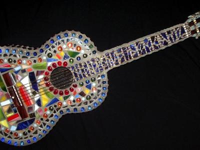 Mosaic Guitar Front