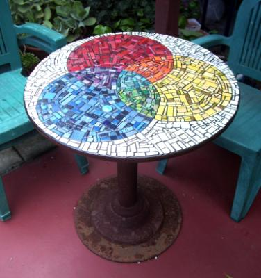 Rainbow Garden Table - Sold