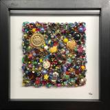 Untitled Beaded Square IV - Framed