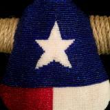 Texas Flag Cow Skull Detail