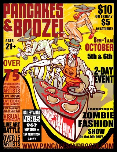 :Pancakes & Booze Art Show In San Francisco