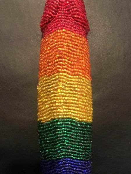 Rainbow Beaded Phallus - Bottom