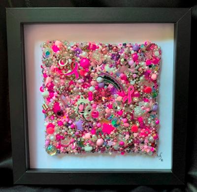 Pink Square Framed